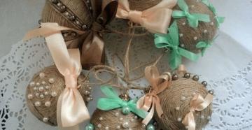 Поделки из мешковины и шпагата своими руками: мастер-класс