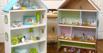 Домик для кукол своими руками: из фанеры, гипсокартона, ПВХ, картона