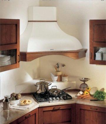 Угловая вытяжка на кухню: дизайн вентиляции в современном интерьере
