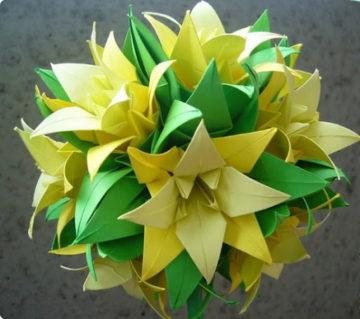 Оригами цветок лилия из бумаги пошаговая инструкция