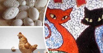 Поделки из яиц и яичной скорлупы своими руками — фото идей необычных поделок