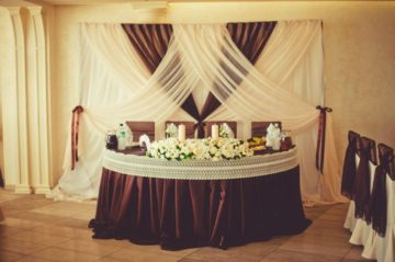 Украшение залов на свадьбу — недорогое оформление своими руками, как украсить свадебный зал шарами