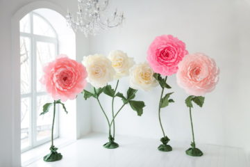 Цветы из гофрированной бумаги своими руками (мастер-классы со схемами и шаблонами)