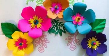 Цветы из бумаги – схемы и шаблоны для создания бумажных цветов
