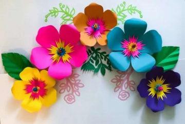 Цветы из бумаги — схемы и шаблоны для создания бумажных цветов