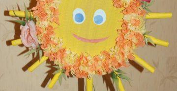 Поделка солнышко — фото вариантов создания детской игрушки