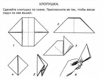 Хлопушка из бумаги своими руками пошаговая инструкция, схема, как сделать оригами с конфетти, из листа а4, тетрадного, бутылки и шарика, втулки от туалетной бумаги