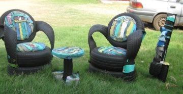Поделки из старых автомобильных шин — пошаговые мастер-классы изделий для сада, огорода, дачи
