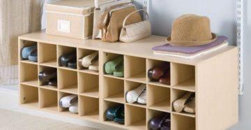 Полка для обуви своими руками: как сделать обувницу из разных материалов