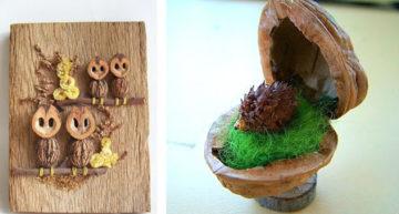 Поделки из скорлупы грецкого ореха своими руками, лучшие идеи