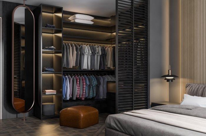 как оформить гардеробную комнату небольшого размера