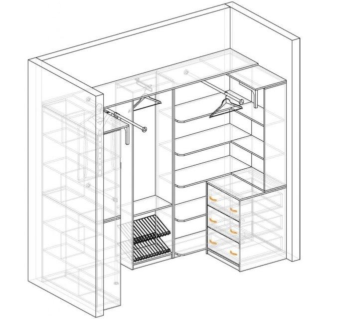 гардеробная комната маленькая