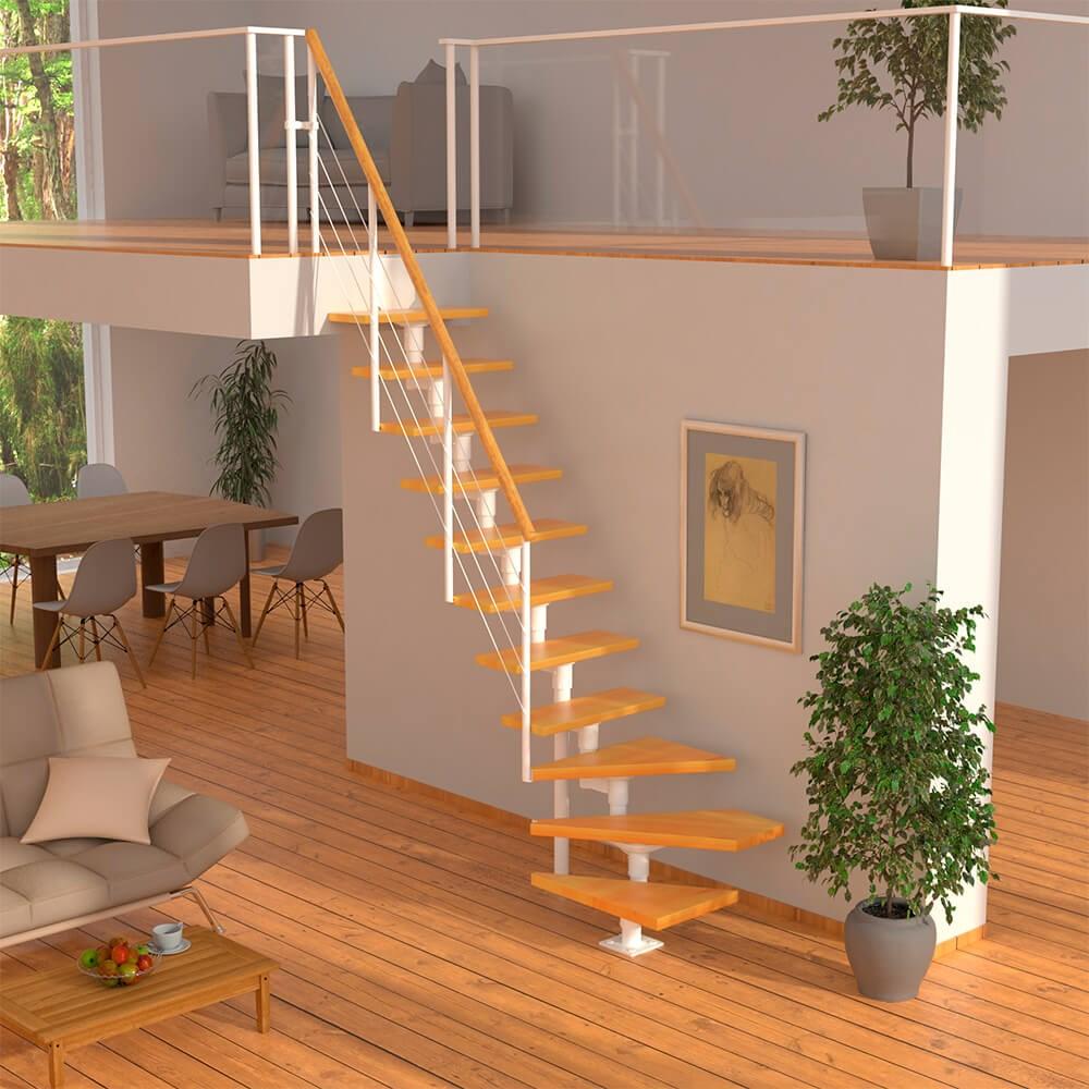 Варианты лестниц на второй этаж в частном доме, когда мало места